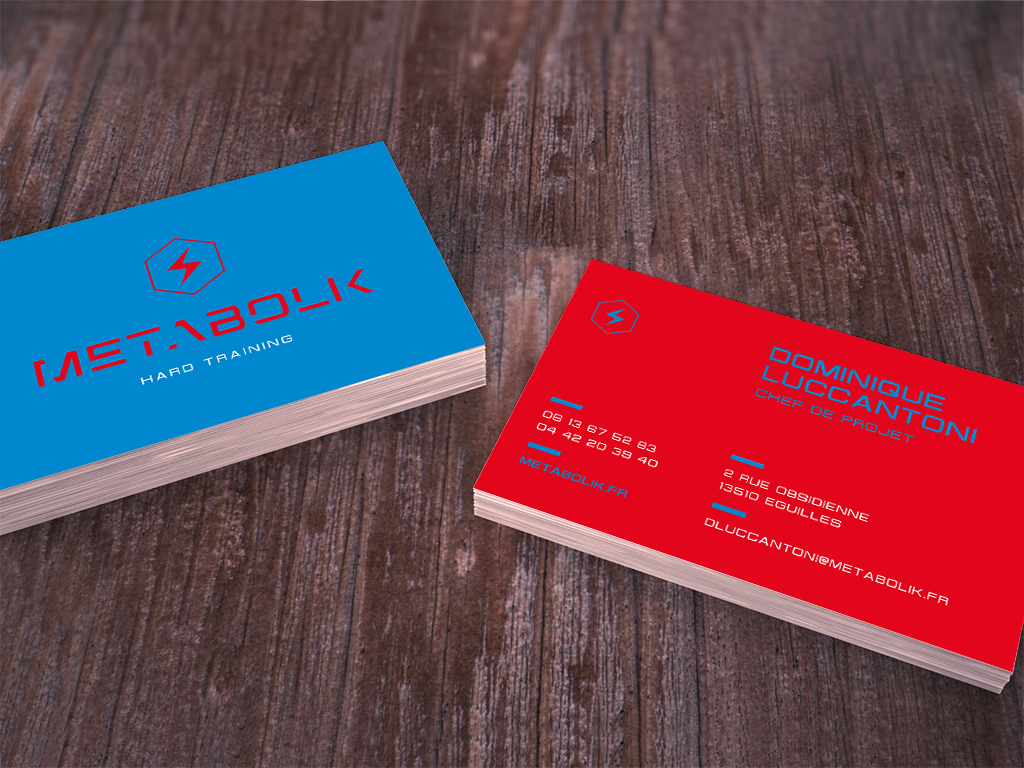 Business card Métabolik mockup