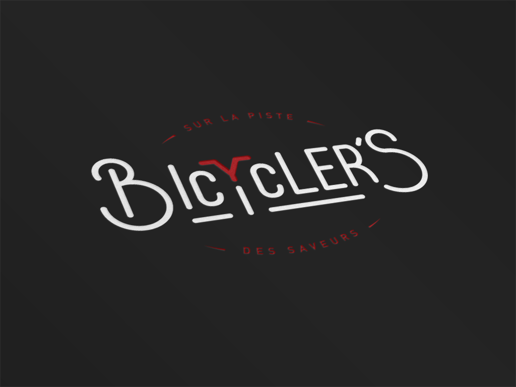 logo mockup bicyclers